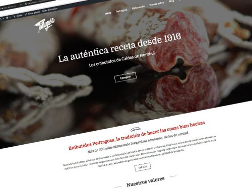 Pedragosa new website and ecommerce, where you can buy delicious handmade sausages